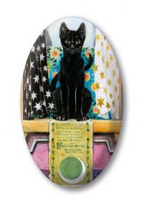 Pagan Cats High Priestess Crystal Magnet